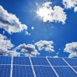 Solar power plant solar energy fã ¼ r — Stock Photo