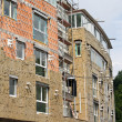 Stock Photo: Shell insulation in new residential building