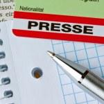 Press id of a journalist — Stock Photo #8195578