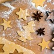 Baking cookies and biscuits for christmas — Stock fotografie