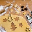 Baking cookies and biscuits for christmas — Stock Photo #8196170