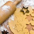 Baking cookies and biscuits for christmas — Stock Photo #8196171