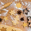 Baking cookies and biscuits for christmas — Foto de stock #8196186