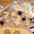 Baking cookies and biscuits for christmas — Stock Photo #8196203