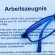 Work certificate in german language — Stock Photo