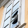 Stock Photo: Broken window pane