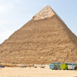 Aegypteb, giza, second pyramid — Stock Photo