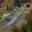 Tunnel der Tauernautobahn — Stock Photo