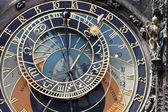 Prague astronomical clock on old town hall — Zdjęcie stockowe