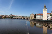 Château de Prague, pont charles et prague hradcany — Photo