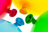 Colorful balloons. symbol of lightness, freedom, celebration — Stock Photo