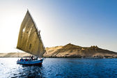 Felucca in aswan, egypt — Stock Photo