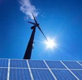 Wind energy alternative energy from wind power — Stock Photo