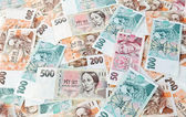 Banknotes and coins from the czech republic — Stock Photo
