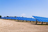Alternative solar energy. solar energy power plant. — Stock Photo