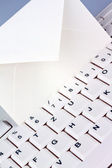 Computer keyboard and envelope. e-mail. — Stock Photo