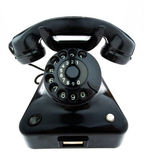 Antique, old retro phone. landline phone — Stock Photo
