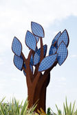 A tree from solar cells — Stock Photo