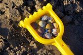 Sand toys on the beach — Stock Photo