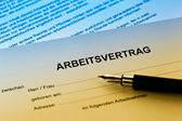 Employment in the german language — Stock Photo