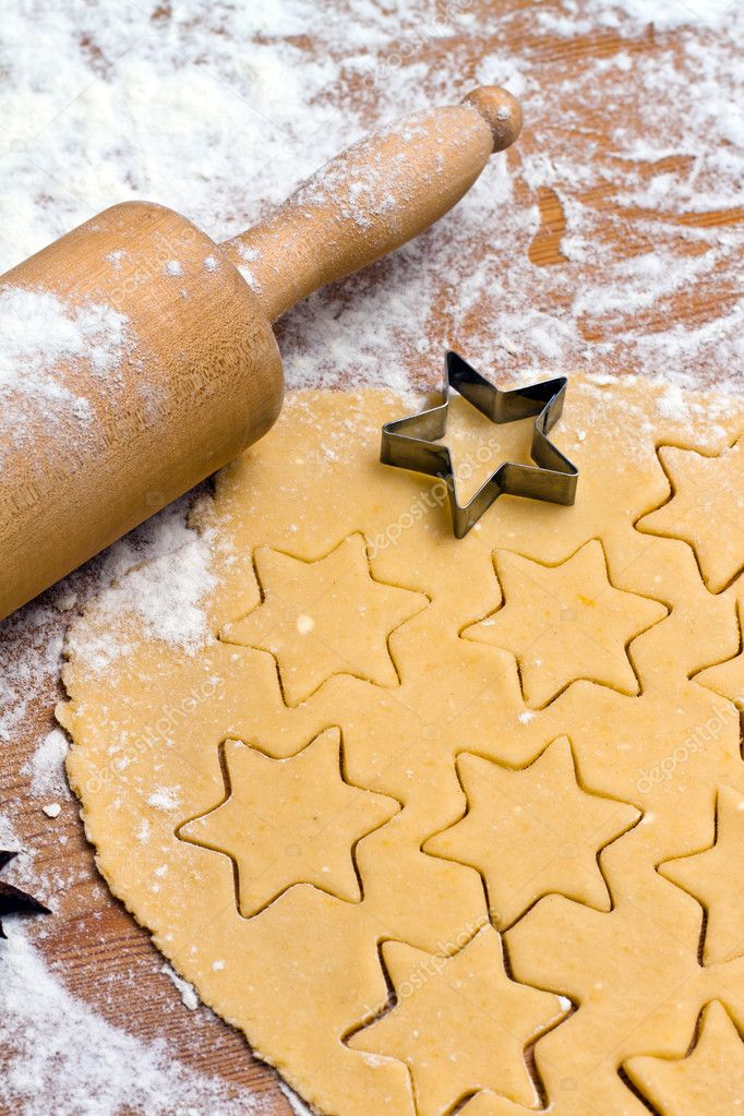 Baking cookies and biscuits in advent. preparing for christmas  Stock Photo #8196163