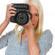 Young girls with digital camera — Foto Stock #8266862