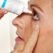 Woman with eye drops and allergy. — Stock Photo #8267157