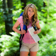 Woman in nature while hiking — Stock Photo #8267850
