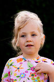 儿童肖像沉思 — 图库照片