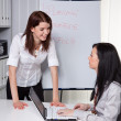 Stock Photo: Business coaching for and by young women