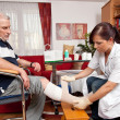 Stock Photo: Wound care by nurses