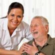 Stock Photo: Nurse in elderly care for elderly