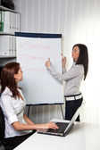 Business coaching for and by young women — Stock Photo