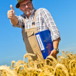 "Farmer with portfolio ""promotion"" on cereal box — Stock Photo #8282863"