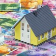 Financing a home in swiss francs — Stock Photo