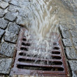 Lid of a channel for rain water — Stock Photo #8285060