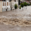 High water and flooding in steyr, austria — Stock Photo #8285064
