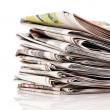 Stacks of old newspapers and magazines — Stock Photo #8285123