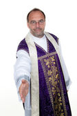 Kindly catholic priest — Stock Photo
