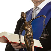 Justice and judges with law book — Stock Photo
