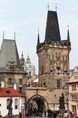Prag charles köprüsü'nde — Stok fotoğraf