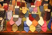 Colorful italian designer silk ties — Stock Photo