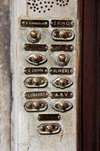 Italian family name on a doorbell — Stock Photo