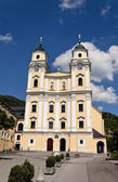 Austria, upper austria, salzkammergut, mondsee, church, — Stock Photo