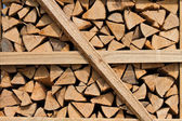 Timber stacking firewood fã ¼ r — Stock Photo