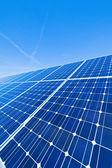 Alternatywne źródła energii słonecznej. energii słonecznej elektrowni. — Zdjęcie stockowe
