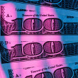 U.s. dollars bills. detail — Stock Photo