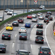 Traffic jam in the road with cars on a highway — Stock Photo #8290731