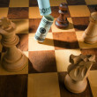 Stock Photo: Chess with dollar and euro