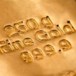 Investment in real gold - Stock Photo